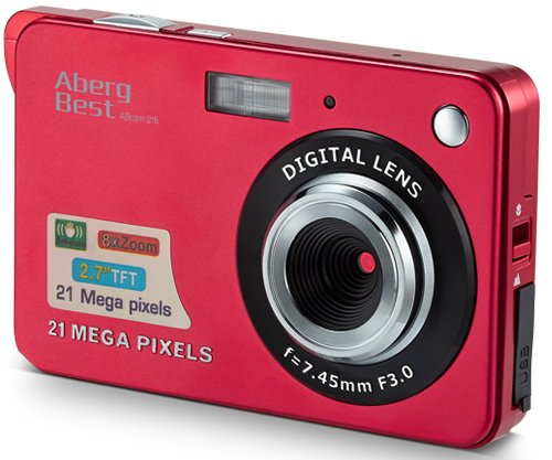 "AbergBest 21 Mega Pixels 2.7"" LCD Rechargeable HD Digital Camera Video"