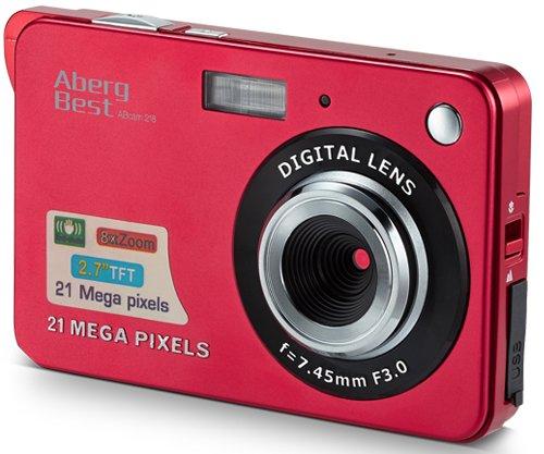 "AbergBest 21 Mega Pixels 2.7"" LCD Rechargeable HD Digital Camera Video"