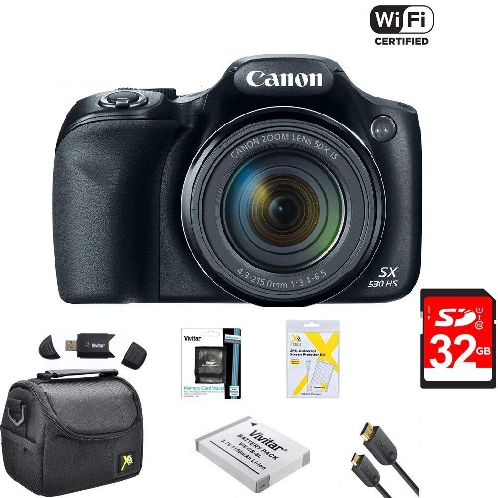 Canon Powershot SX530 HS 16MP Wi-Fi Super-Zoom Digital Camera